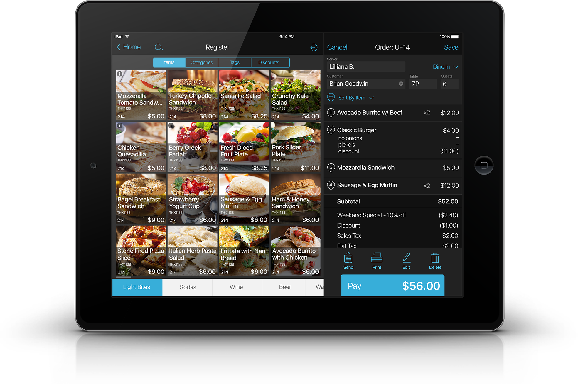 tablet-based pos system