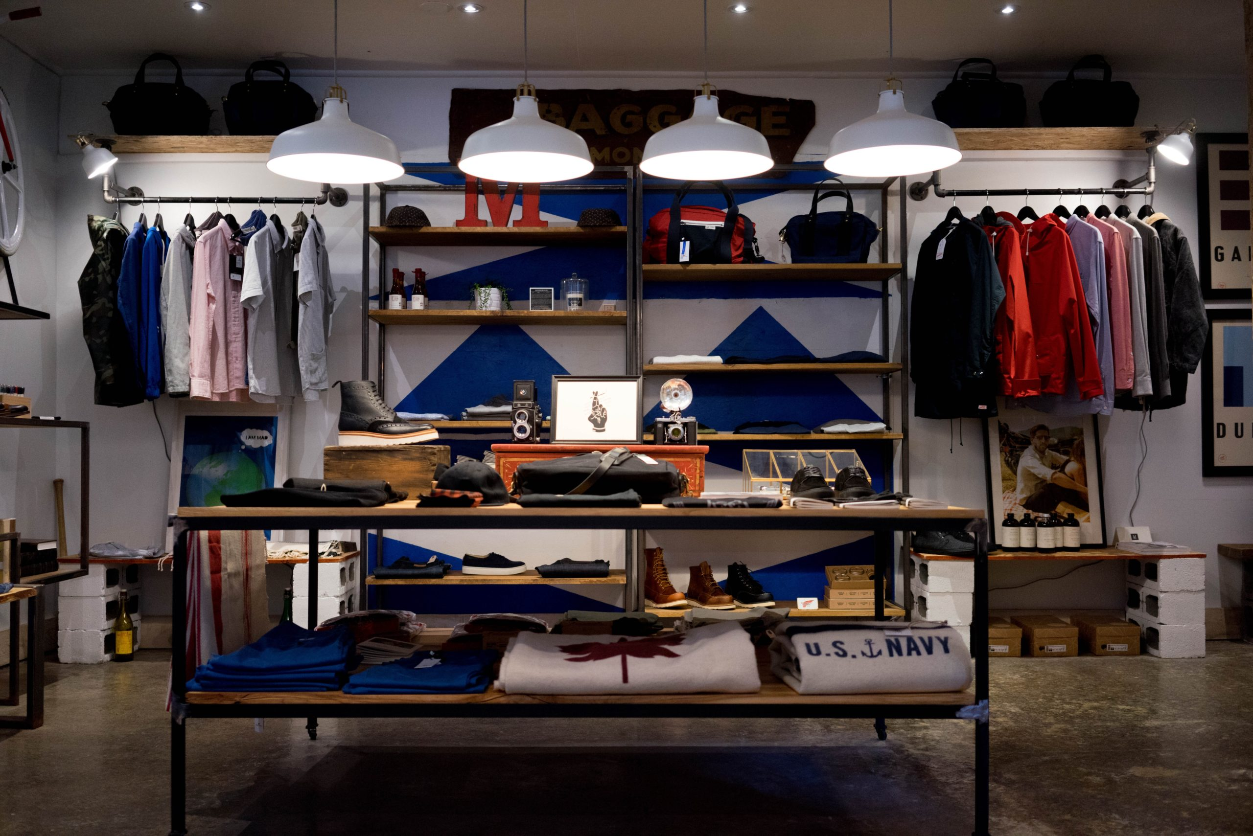 An image of a clothing store