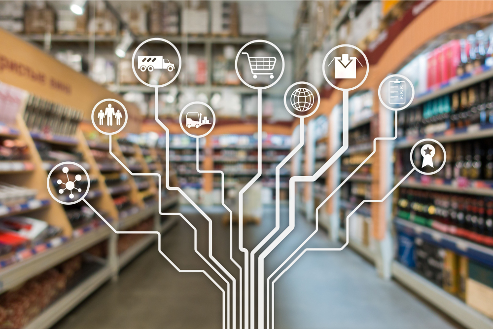 software creates a network of retail components