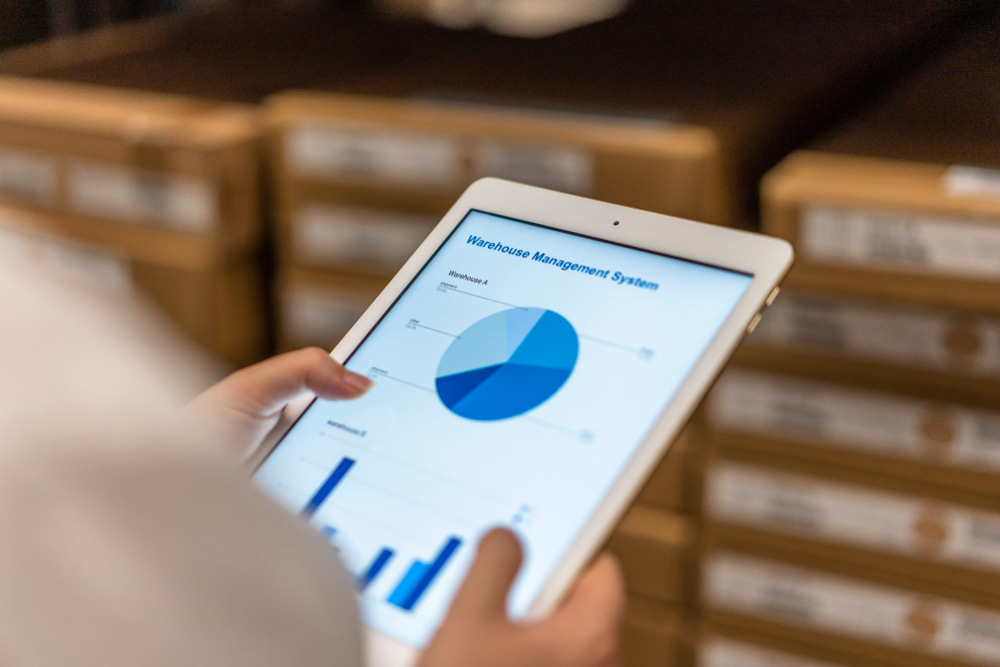 ipad showing inventory tracking software