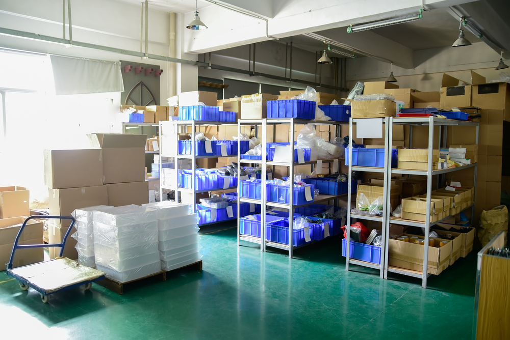 inventory in warehouse awaits tracking
