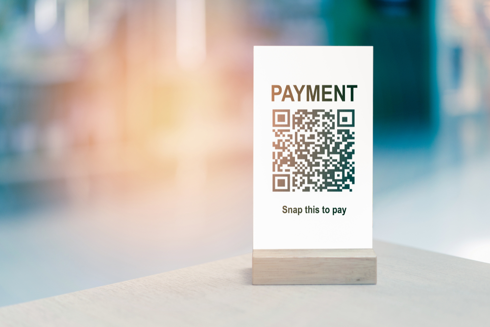 qr code for cashless mobile payment