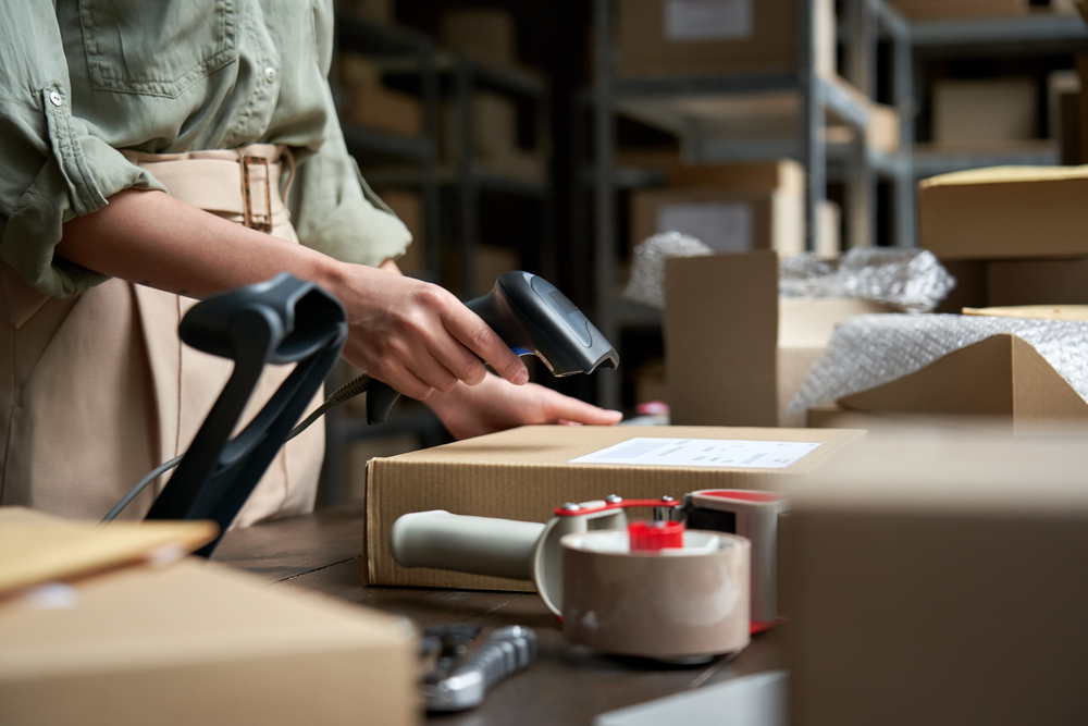 scanning data into barcode inventory software