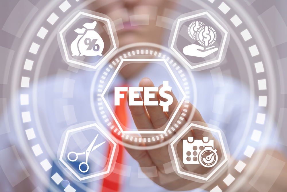 icons representing types of fees
