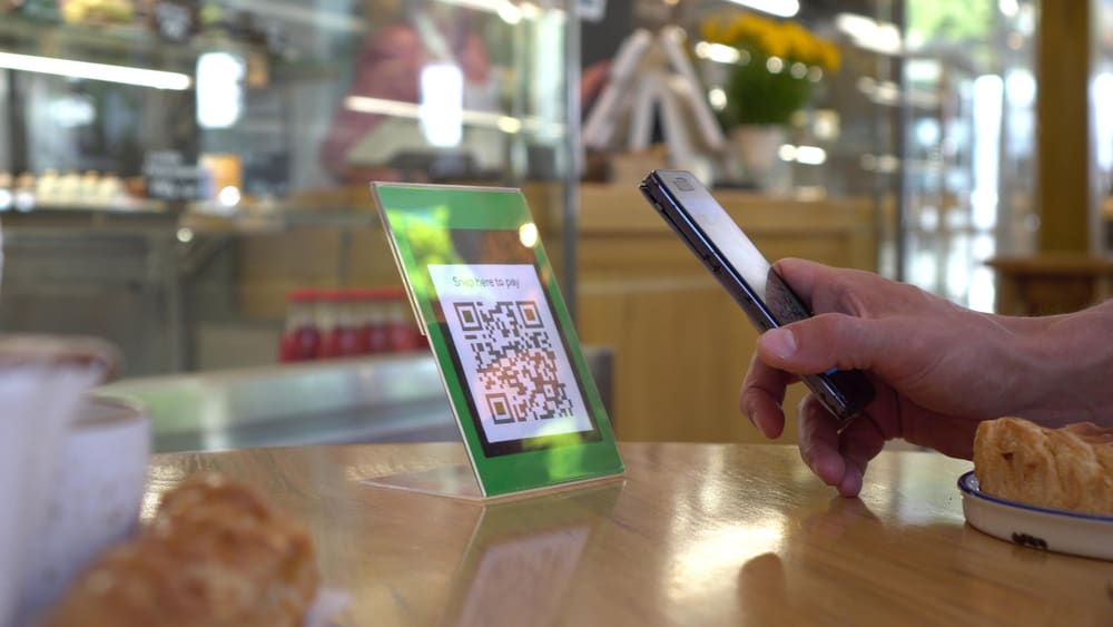 contactless dining qr code